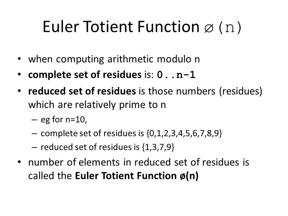Euler Totient Function ø(n)