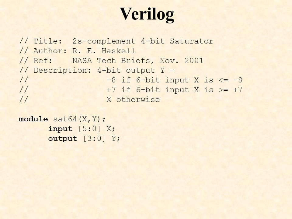 Verilog // Title: 2s-complement 4-bit Saturator