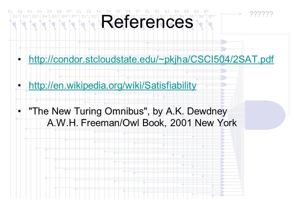 References http://condor.stcloudstate.edu/~pkjha/CSCI504/2SAT.pdf