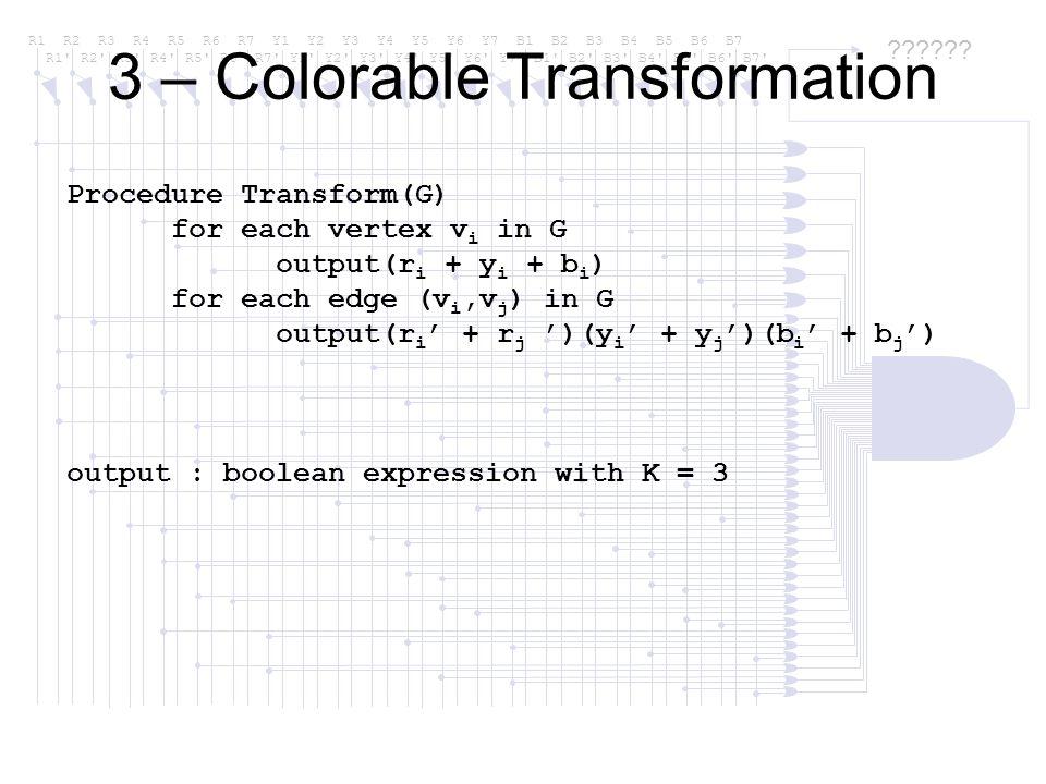 3 – Colorable Transformation