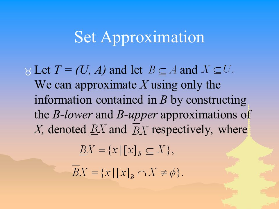 Set Approximation
