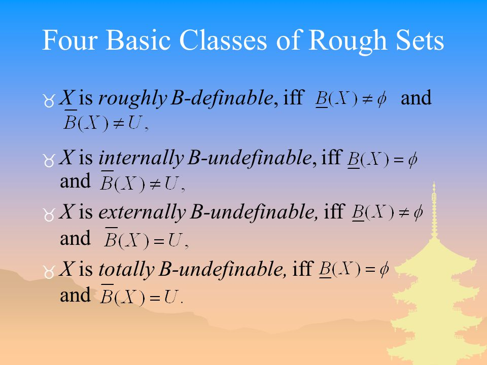 Four Basic Classes of Rough Sets