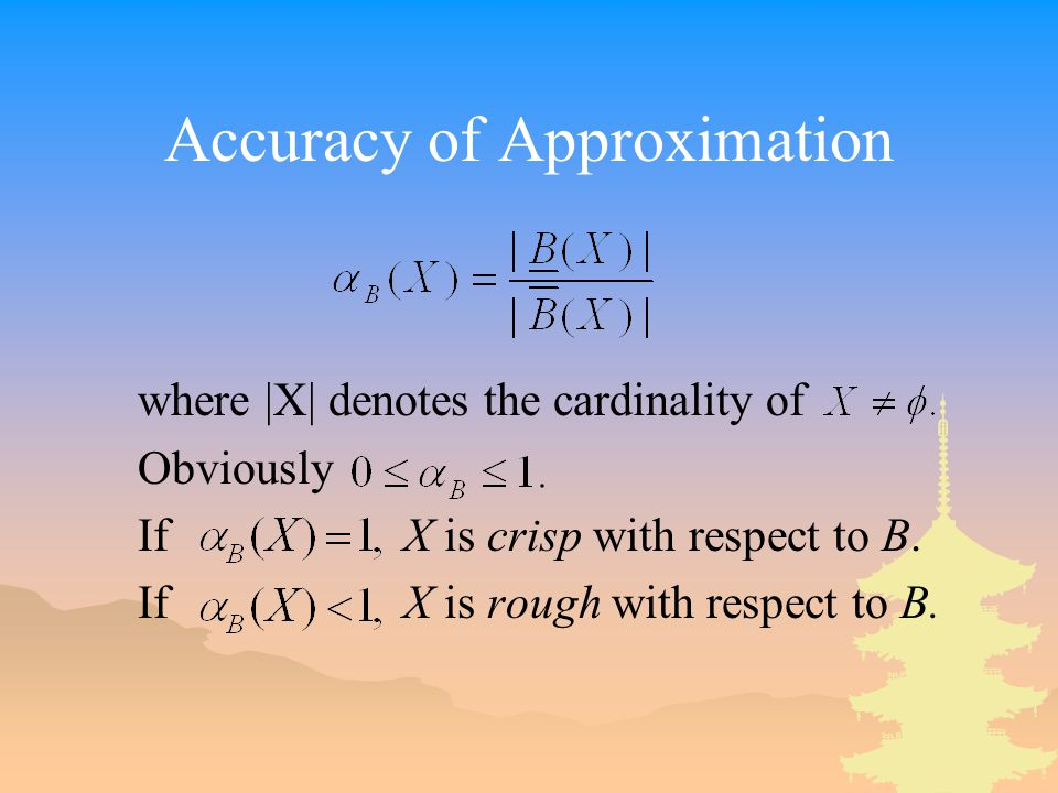 Accuracy of Approximation