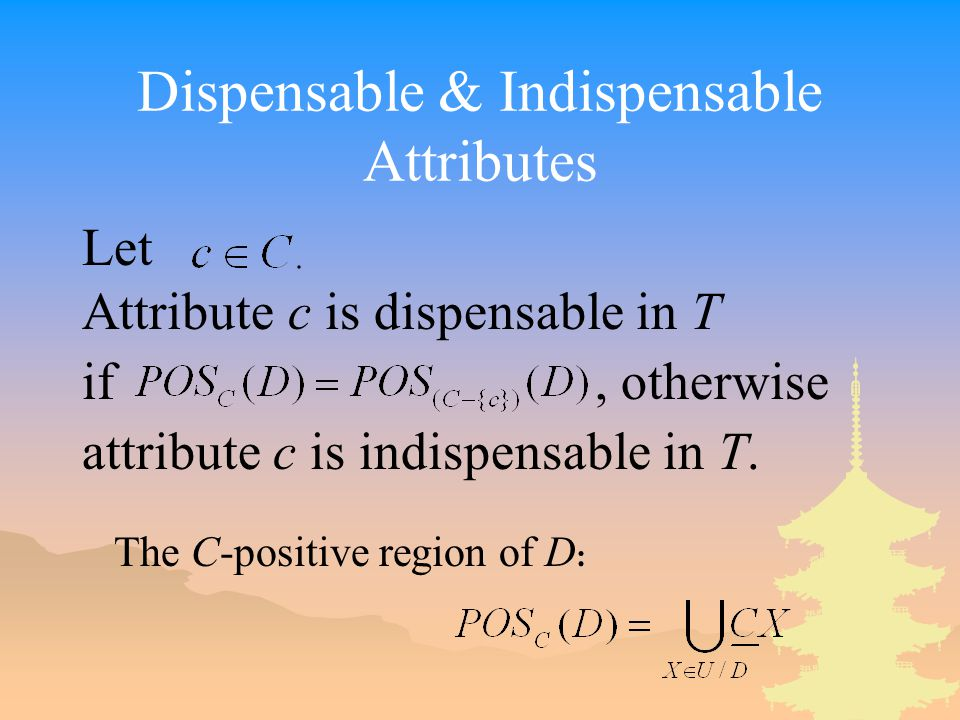 Dispensable & Indispensable Attributes