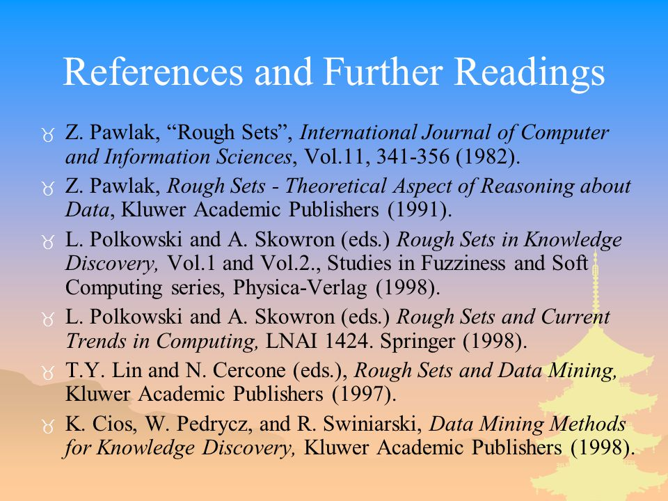 References and Further Readings