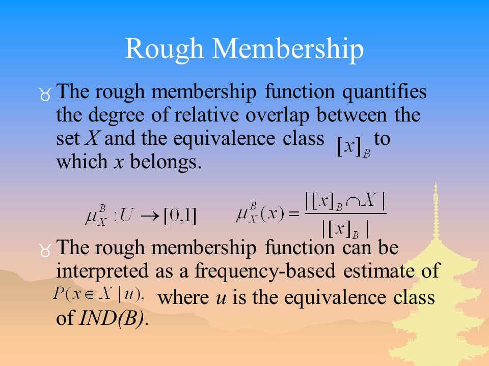 Rough Membership