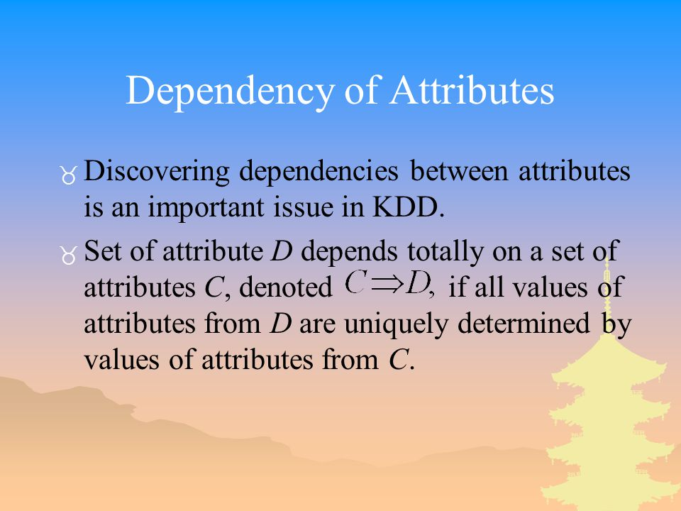 Dependency of Attributes