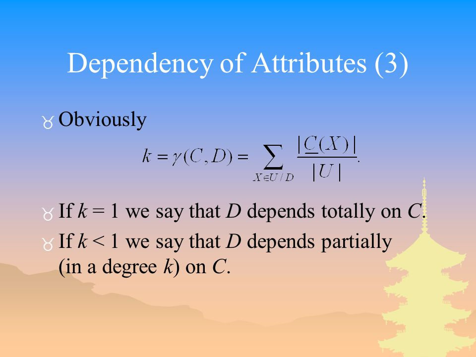 Dependency of Attributes (3)