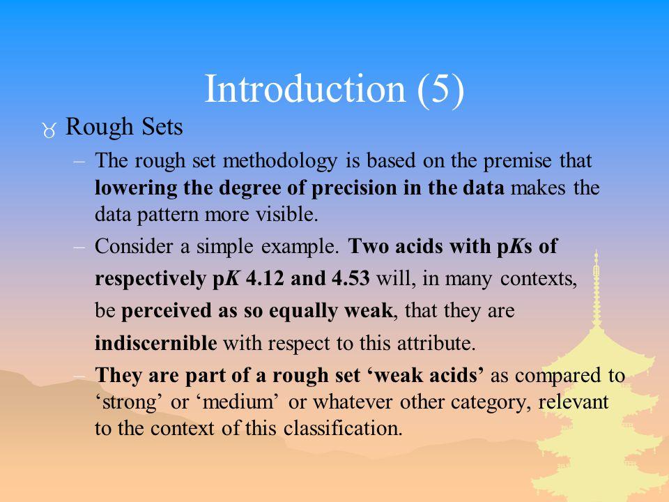 Introduction (5) Rough Sets