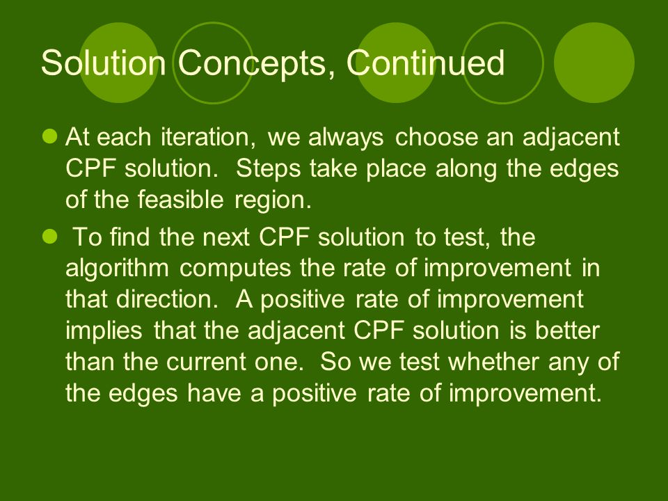 Solution Concepts, Continued