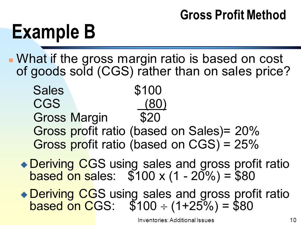 Gross Profit Method Example B