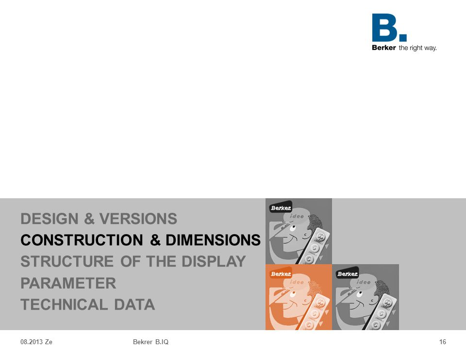 CONSTRUCTION & DIMENSIONS STRUCTURE OF THE DISPLAY PARAMETER