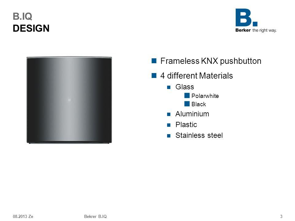 B.IQ DESIGN Frameless KNX pushbutton 4 different Materials Glass