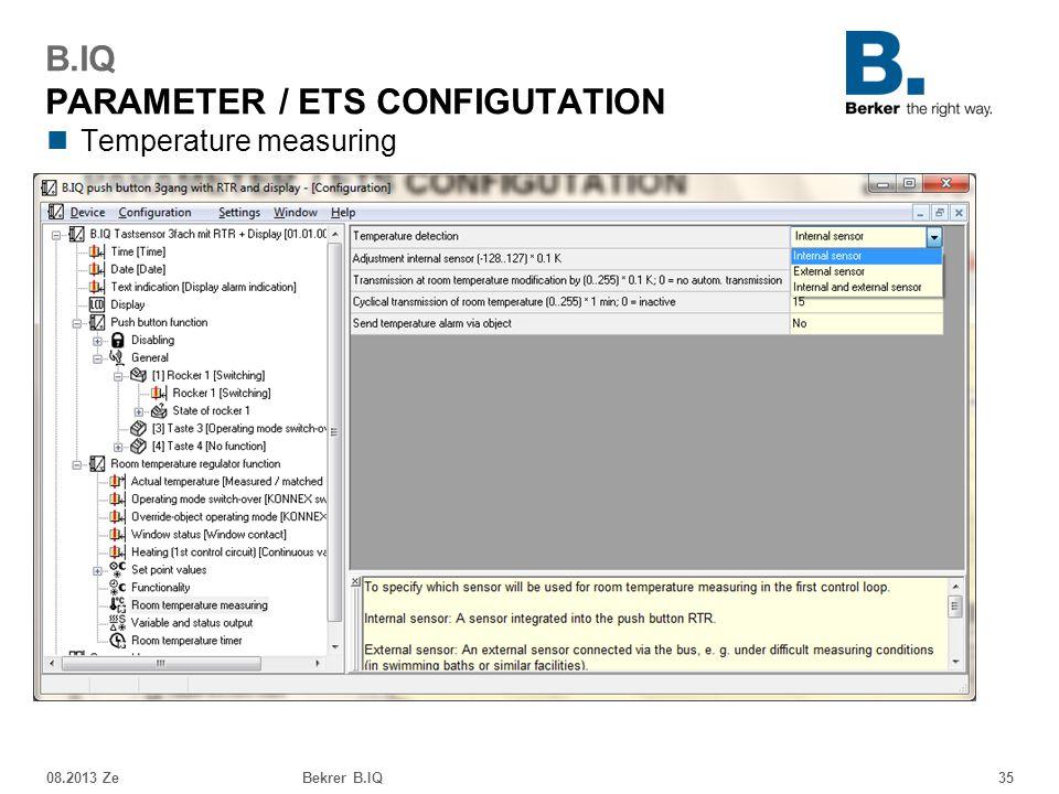 B.IQ PARAMETER / ETS CONFIGUTATION