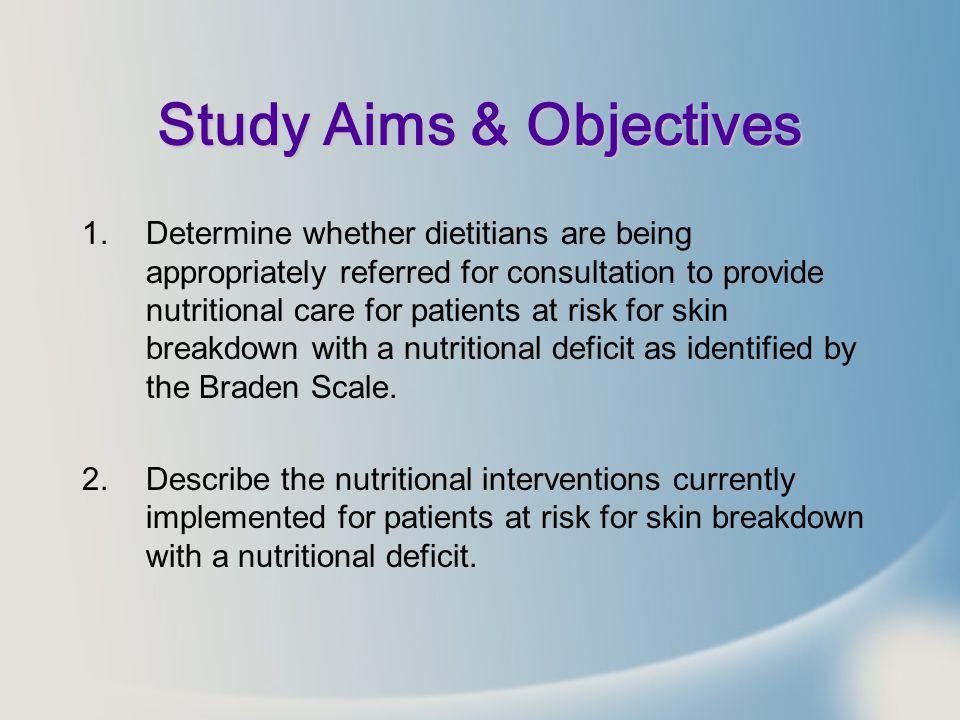 Study Aims & Objectives