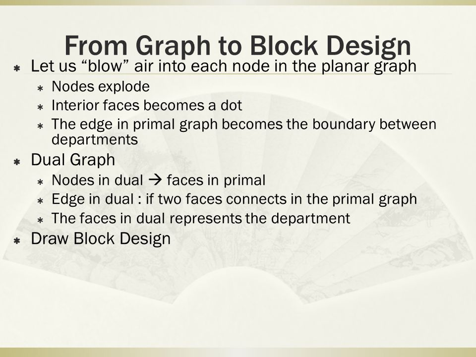 From Graph to Block Design