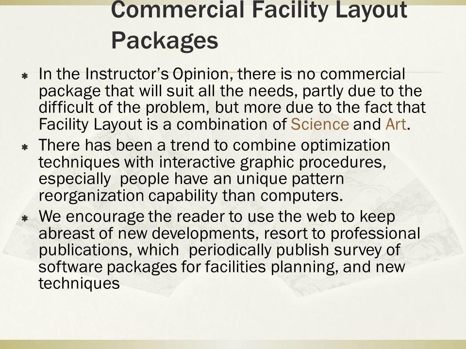 Commercial Facility Layout Packages