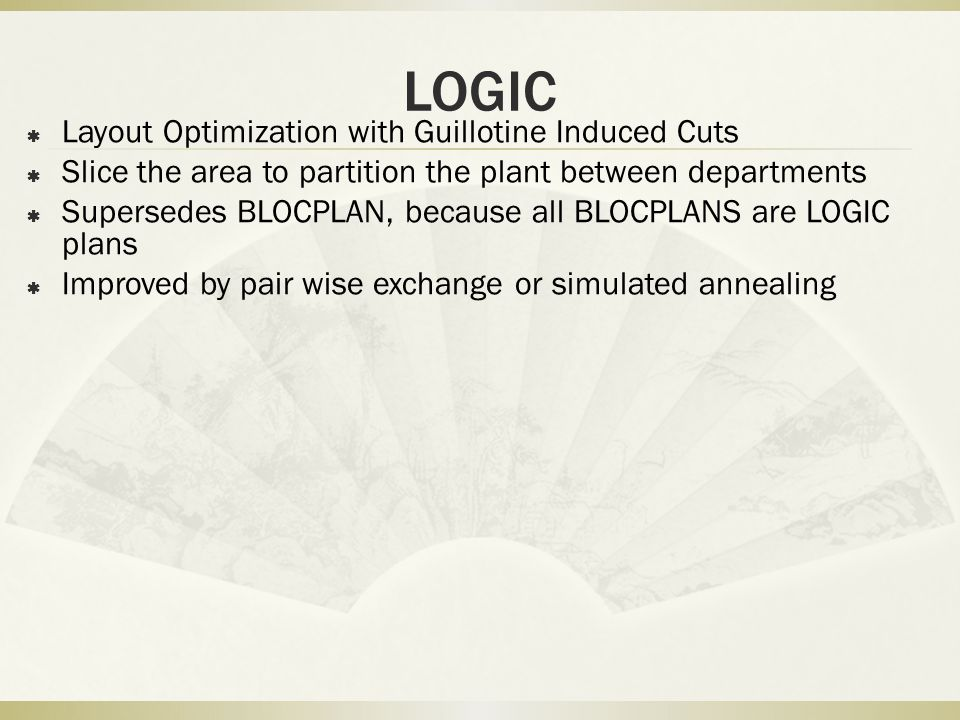 LOGIC Layout Optimization with Guillotine Induced Cuts