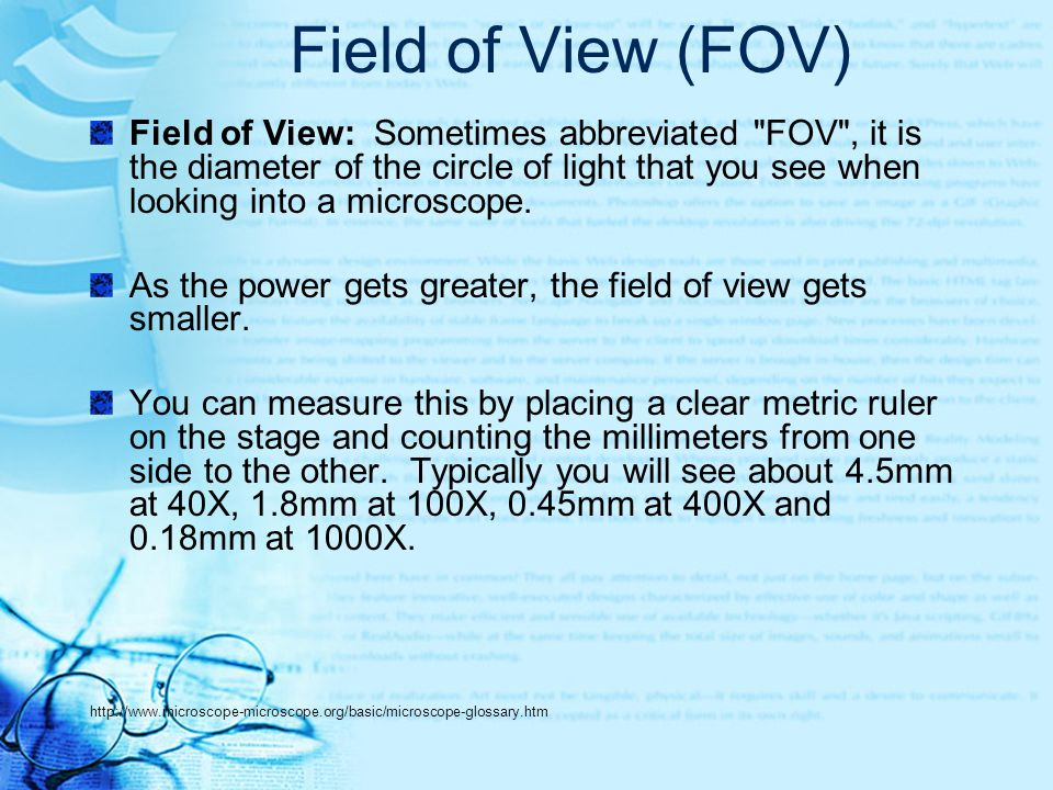 Field of View (FOV)