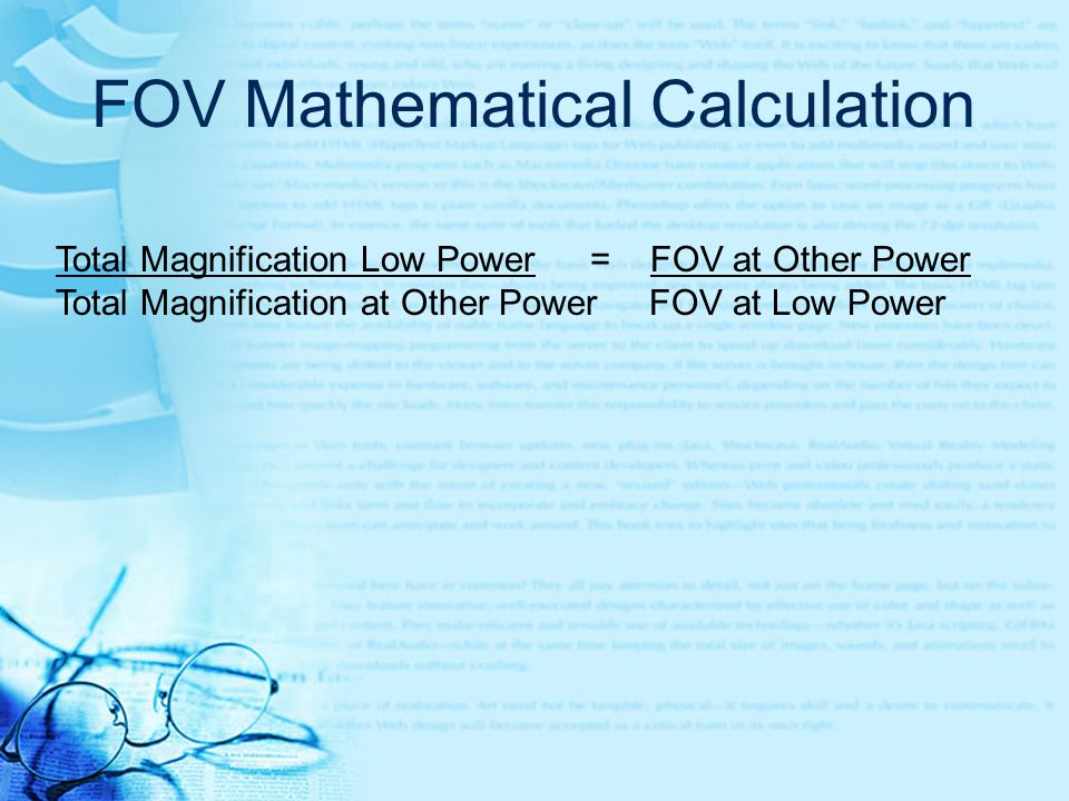 FOV Mathematical Calculation