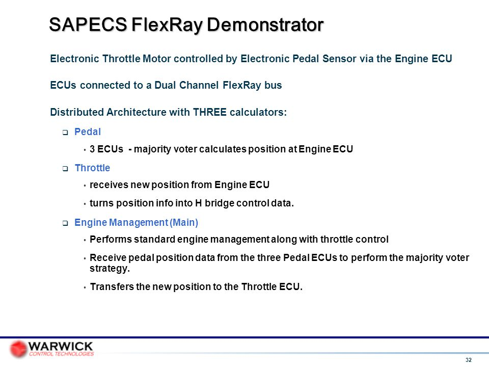 SAPECS FlexRay Demonstrator