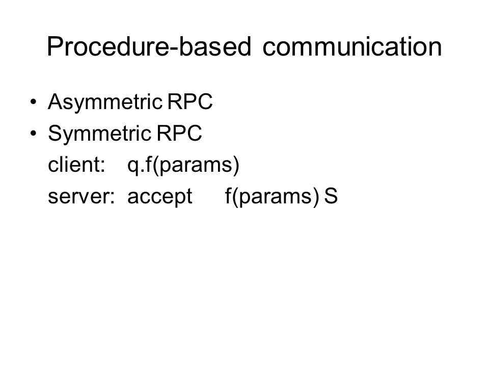 Procedure-based communication