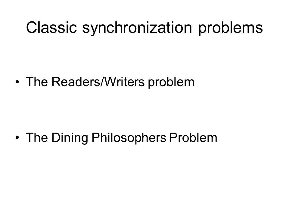 Classic synchronization problems