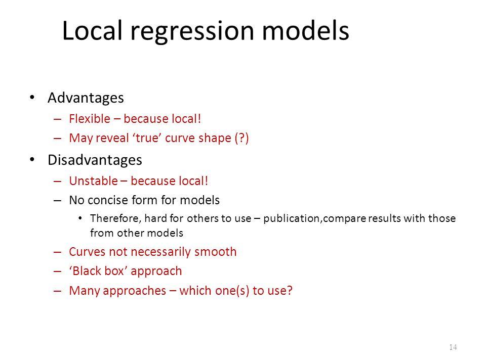 Local regression models