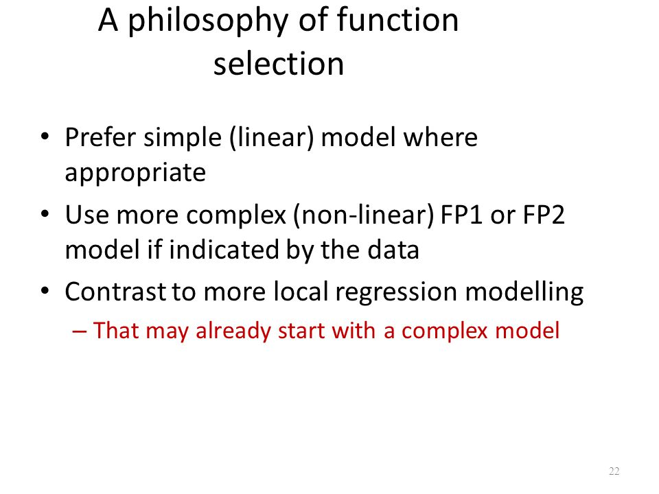 A philosophy of function selection