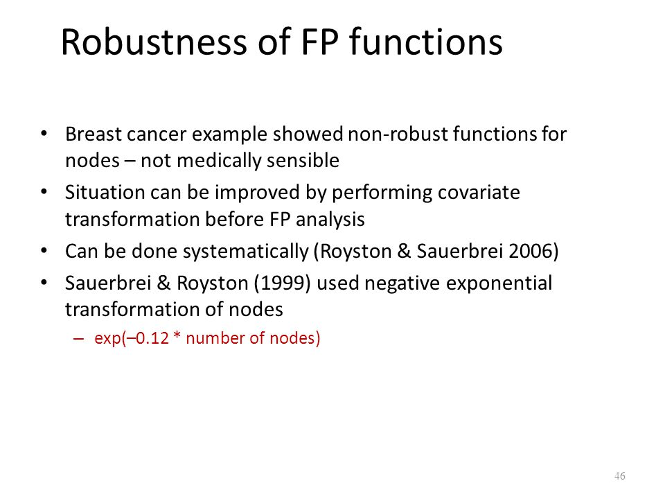 Robustness of FP functions