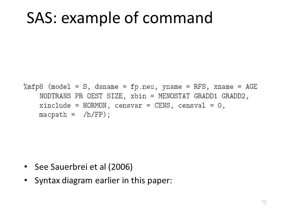 SAS: example of command
