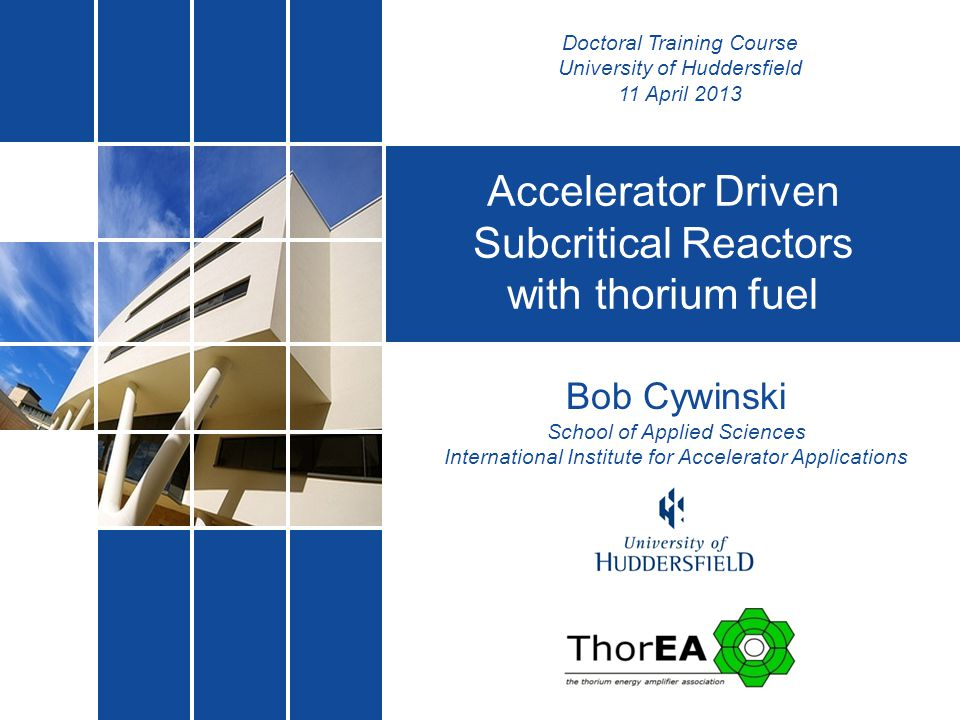 Accelerator Driven Subcritical Reactors with thorium fuel
