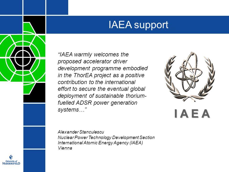 IAEA support