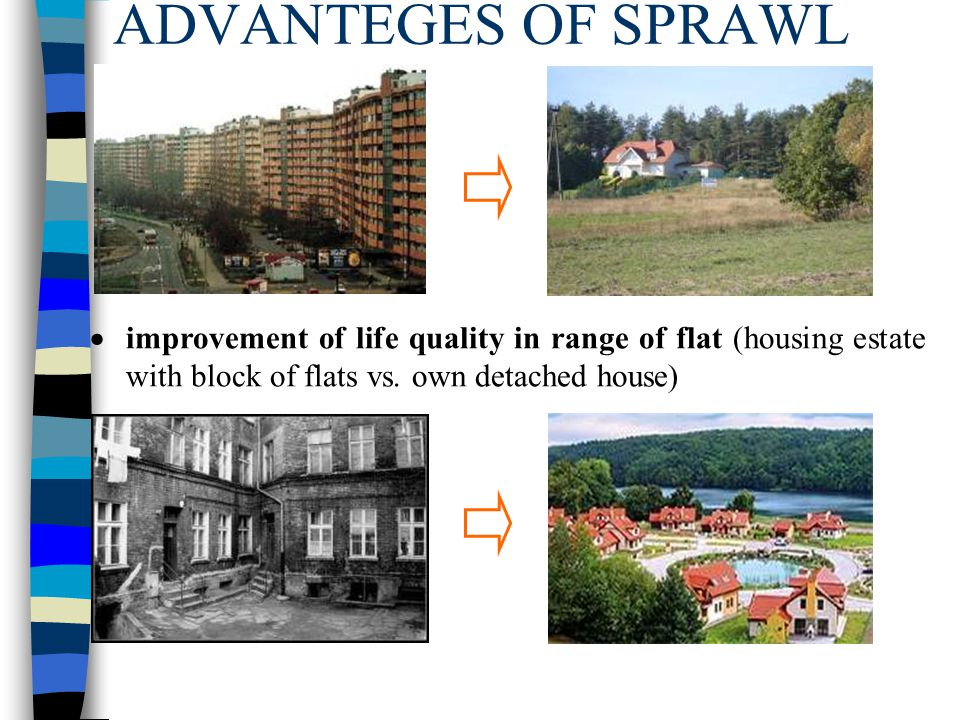 ADVANTEGES OF SPRAWL improvement of life quality in range of flat (housing estate with block of flats vs.