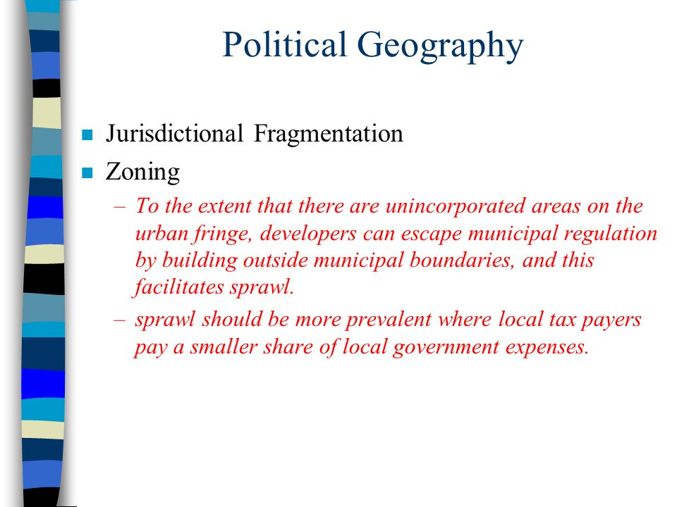 Political Geography Jurisdictional Fragmentation Zoning