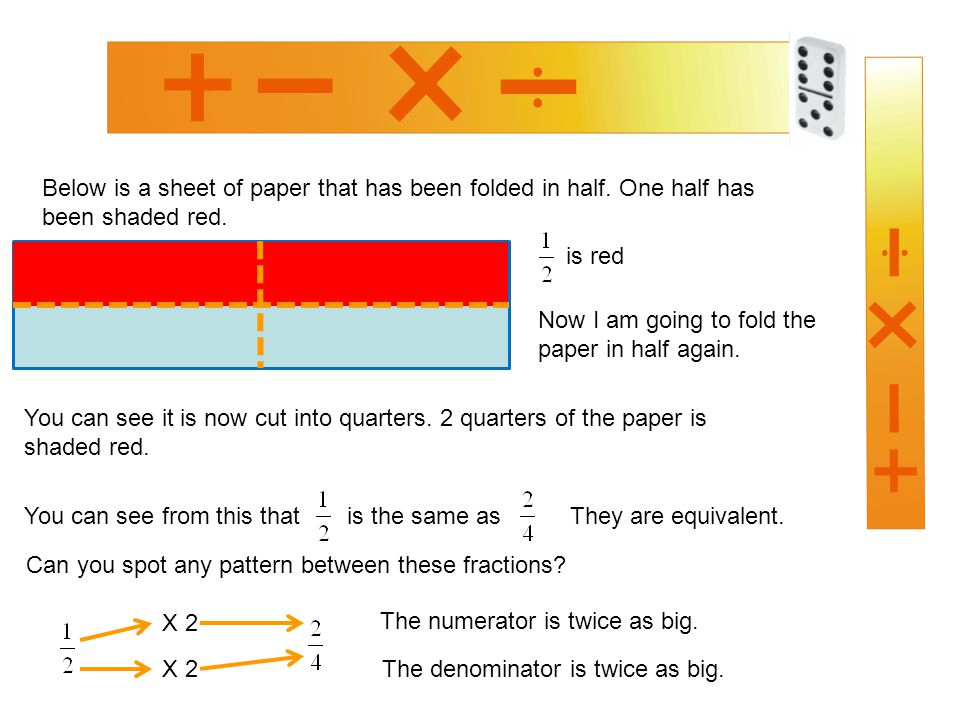 Below is a sheet of paper that has been folded in half