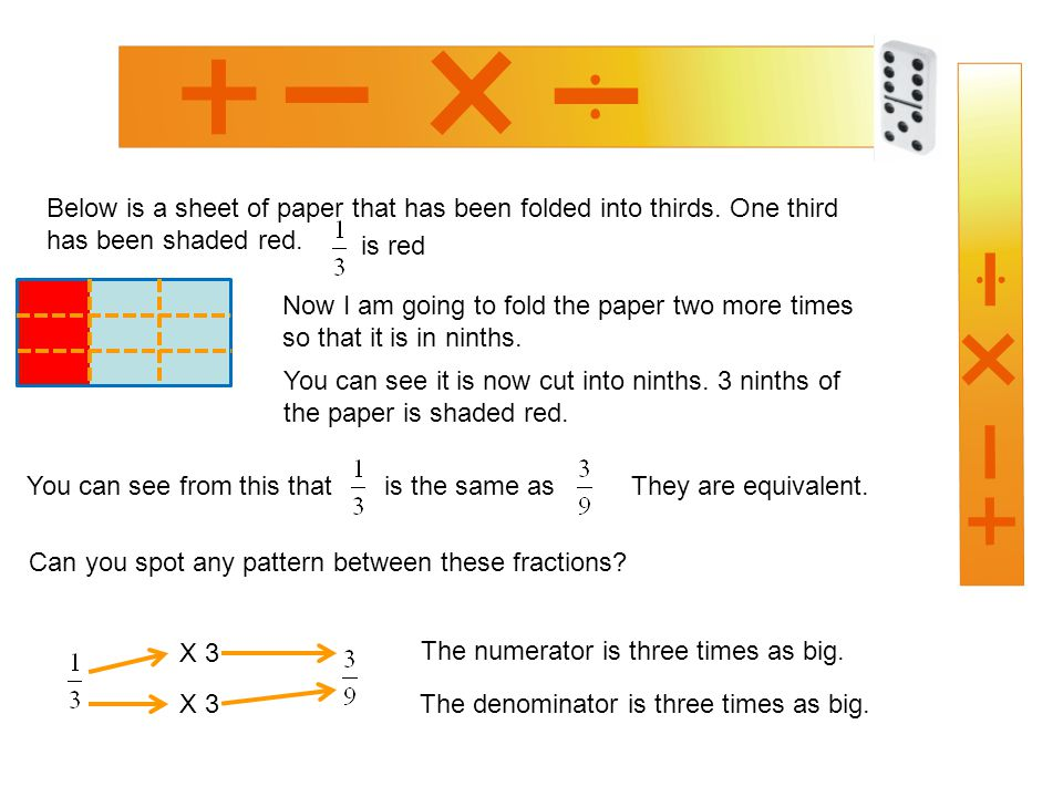 Below is a sheet of paper that has been folded into thirds