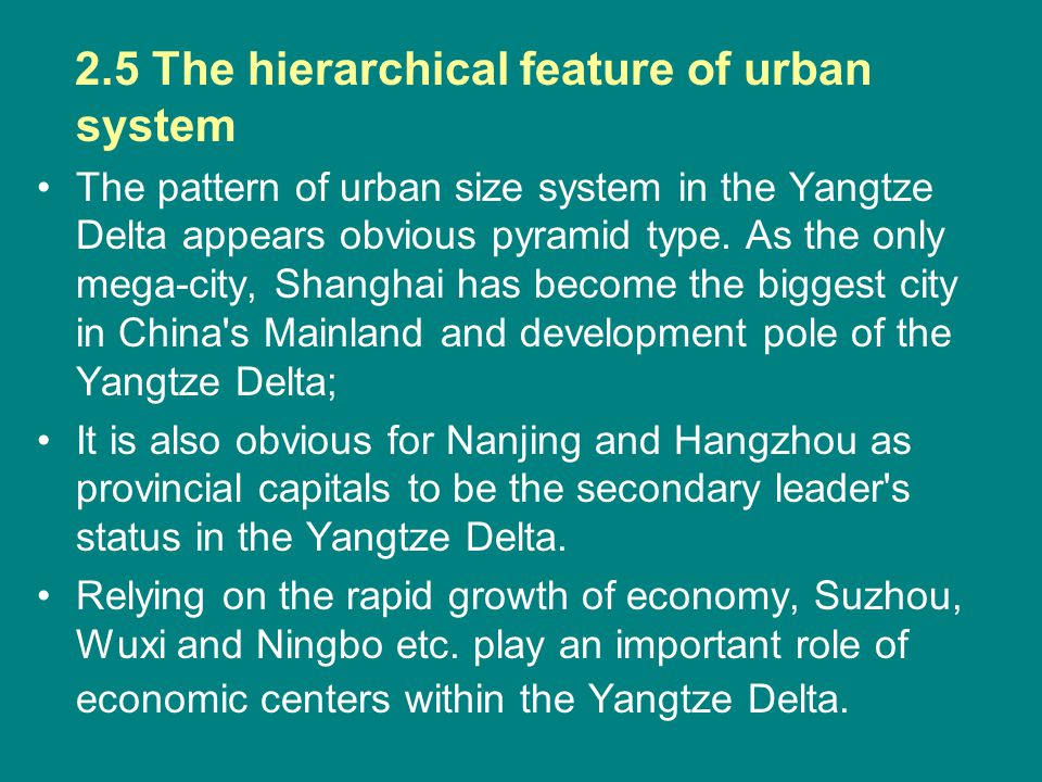 2.5 The hierarchical feature of urban system