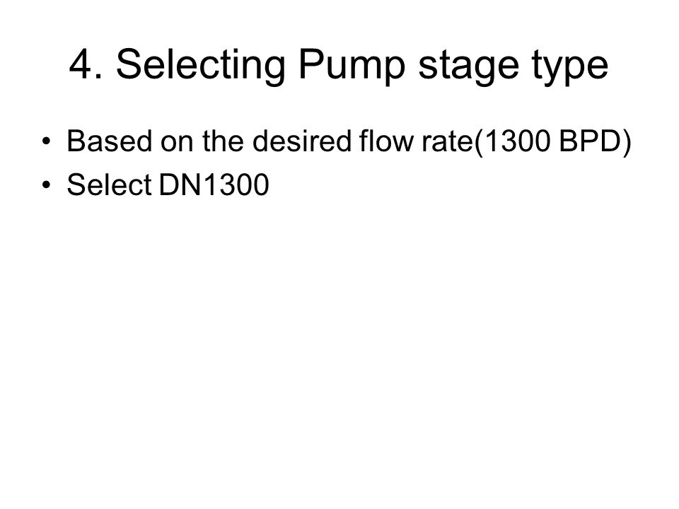 4. Selecting Pump stage type