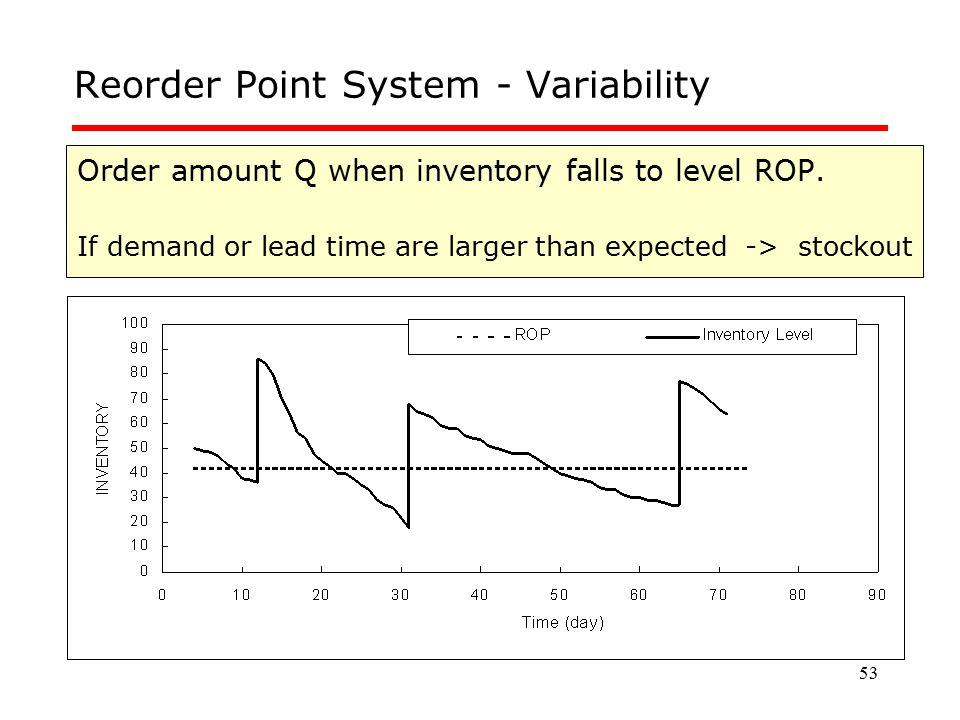 Reorder Point System - Variability