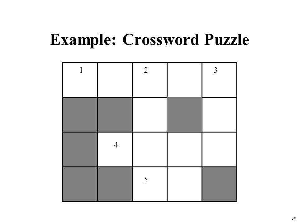 Example: Crossword Puzzle