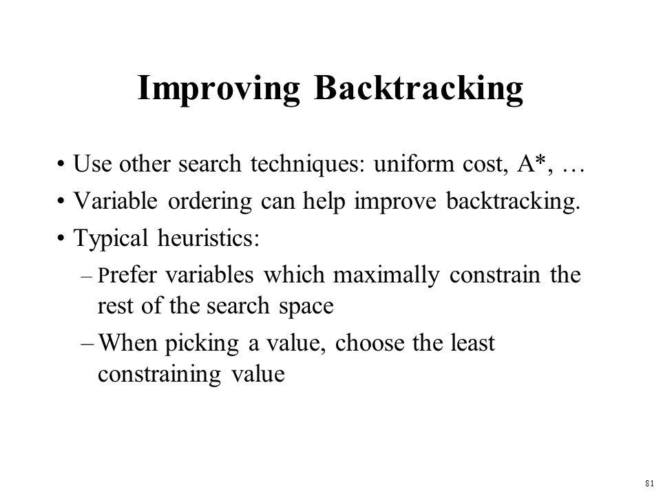 Improving Backtracking