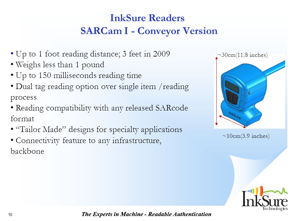 InkSure Readers SARCam I - Conveyor Version