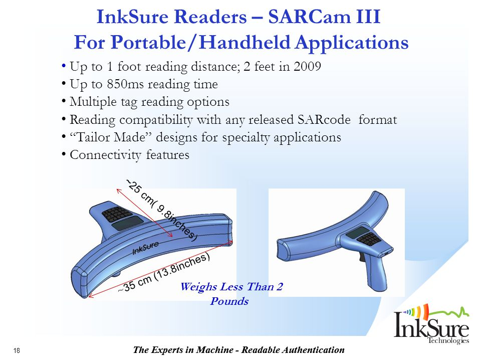InkSure Readers – SARCam III For Portable/Handheld Applications