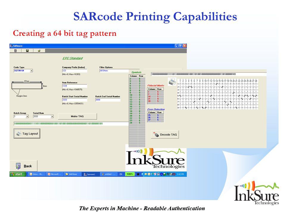 SARcode Printing Capabilities