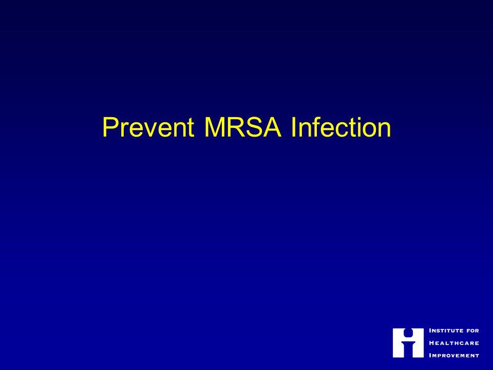 Prevent MRSA Infection