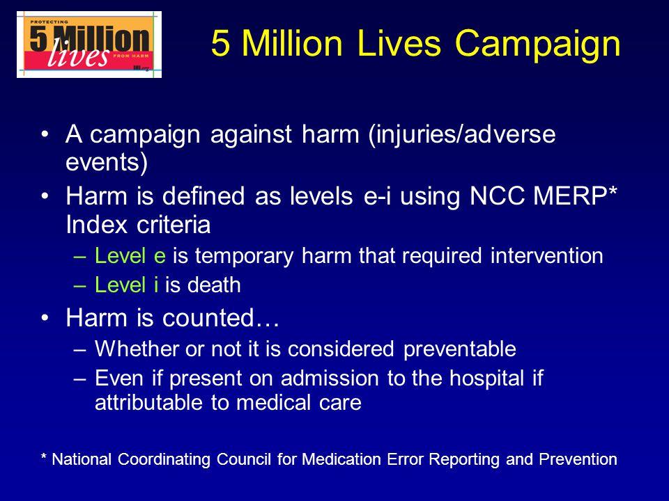 5 Million Lives Campaign