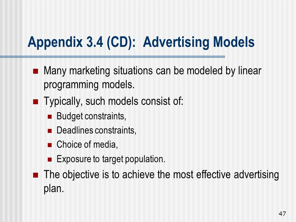 Appendix 3.4 (CD): Advertising Models