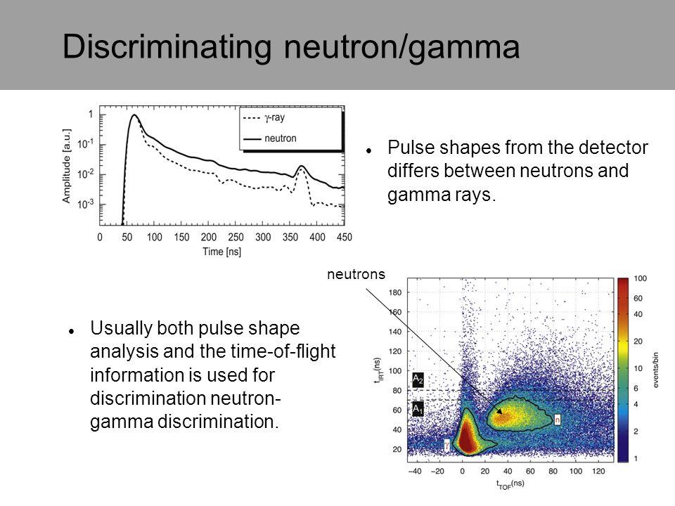 Discriminating neutron/gamma