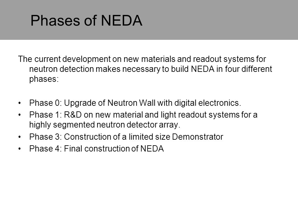 Phases of NEDA